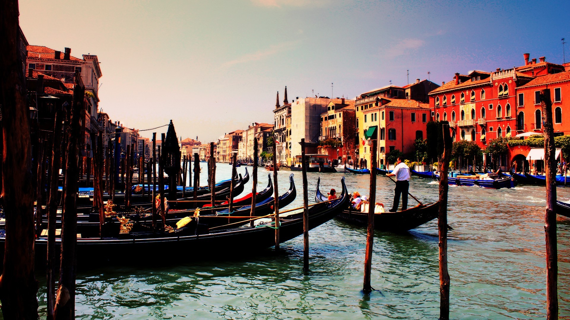 Sunset Over Grand Canal, Venice, Italy  № 1471191 бесплатно