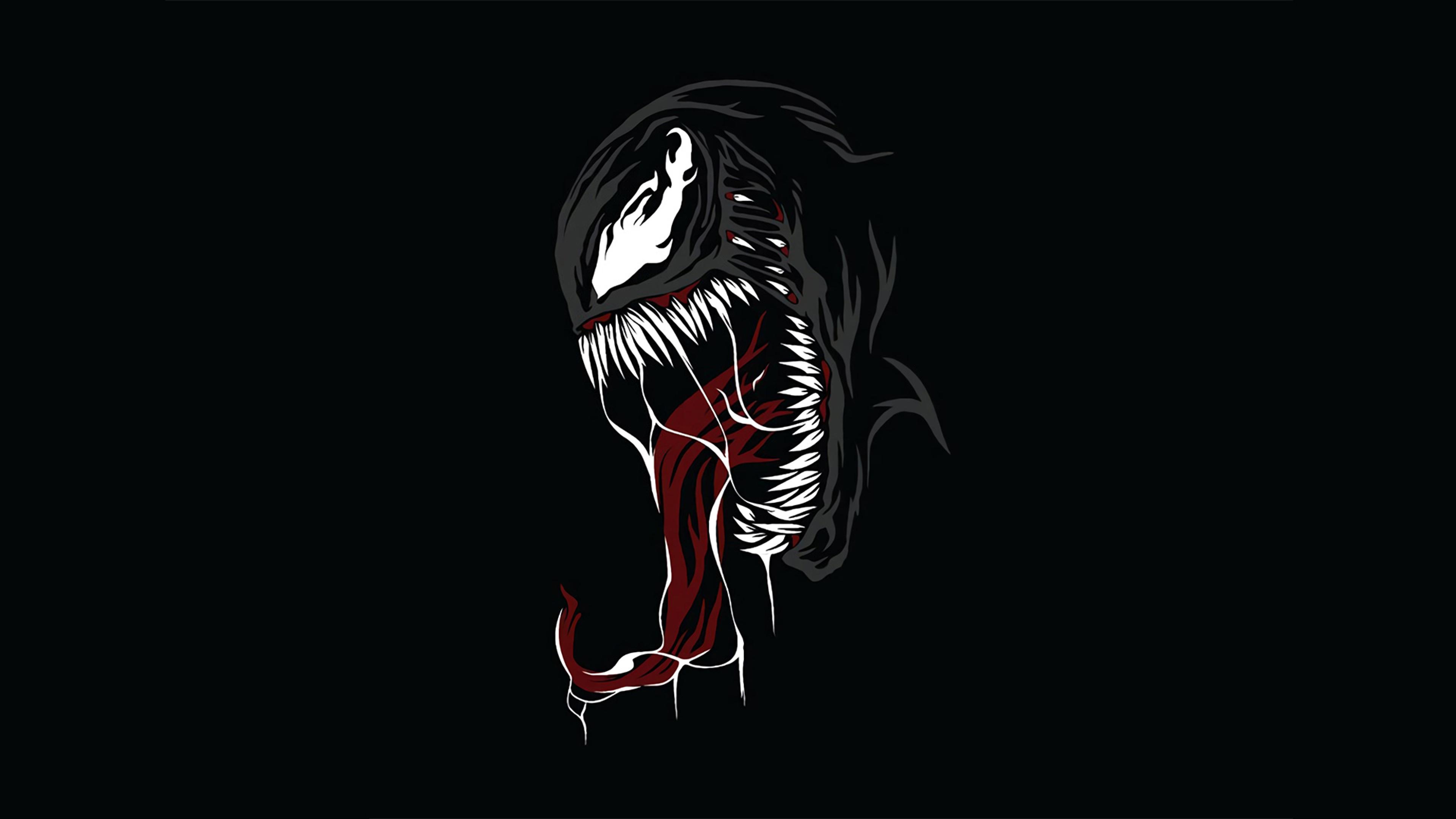 3840x2160 Venom Minimal 4K Wallpaper, HD Superheroes 4K ...