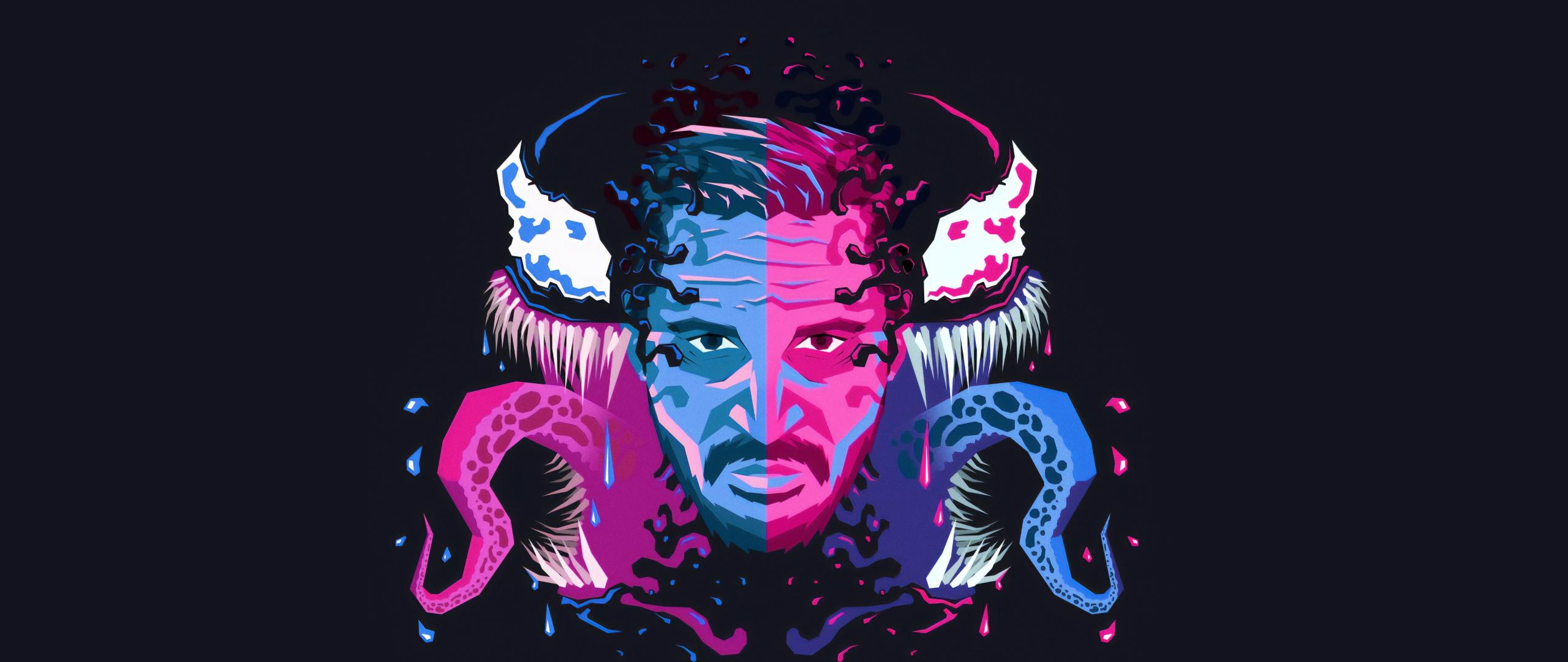 2560x1080 Venom Movie Tom Hardy Illustration 2560x1080