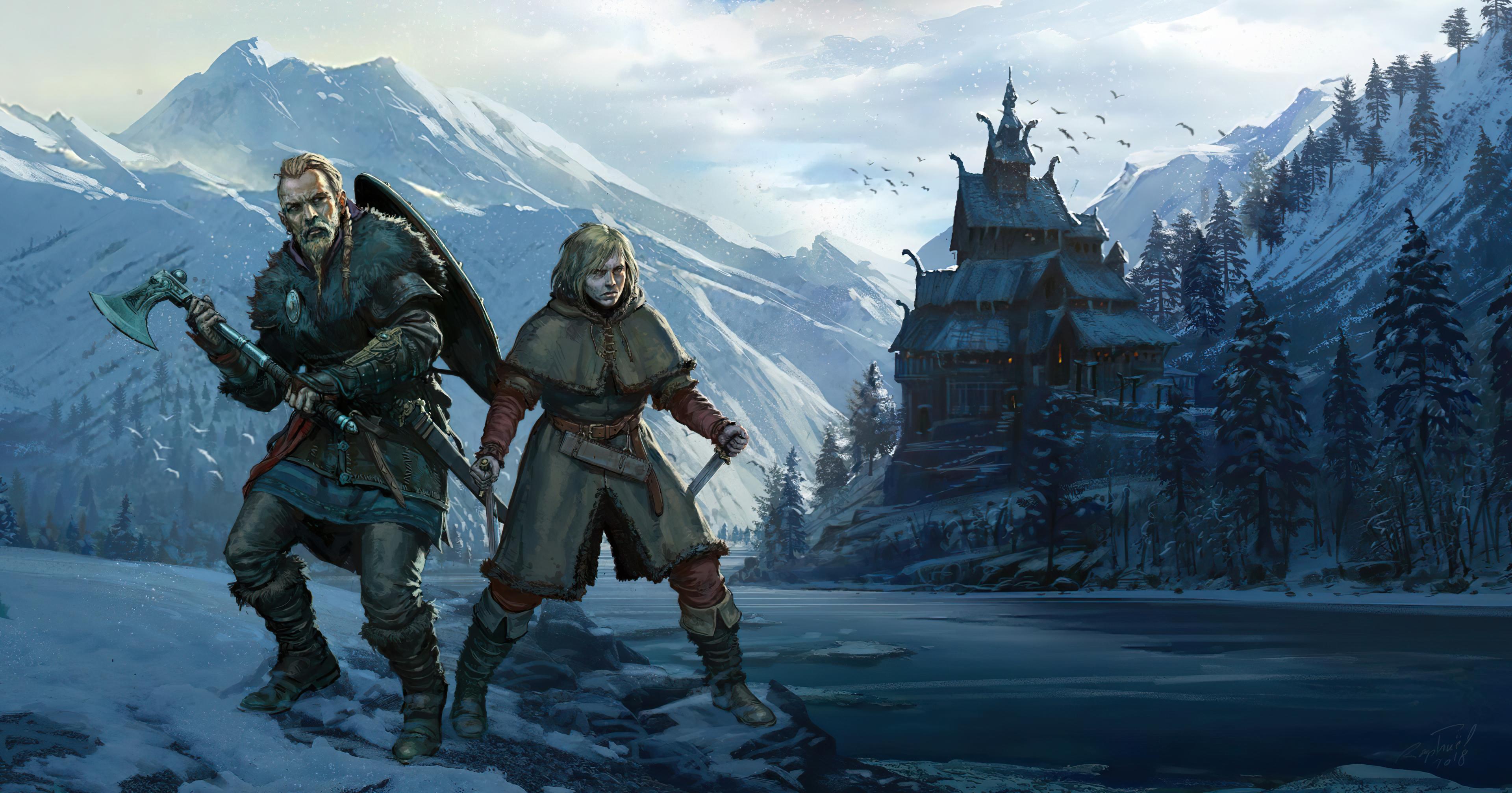 Vinland Saga Assassins Creed Valhalla Wallpaper, HD Games ...