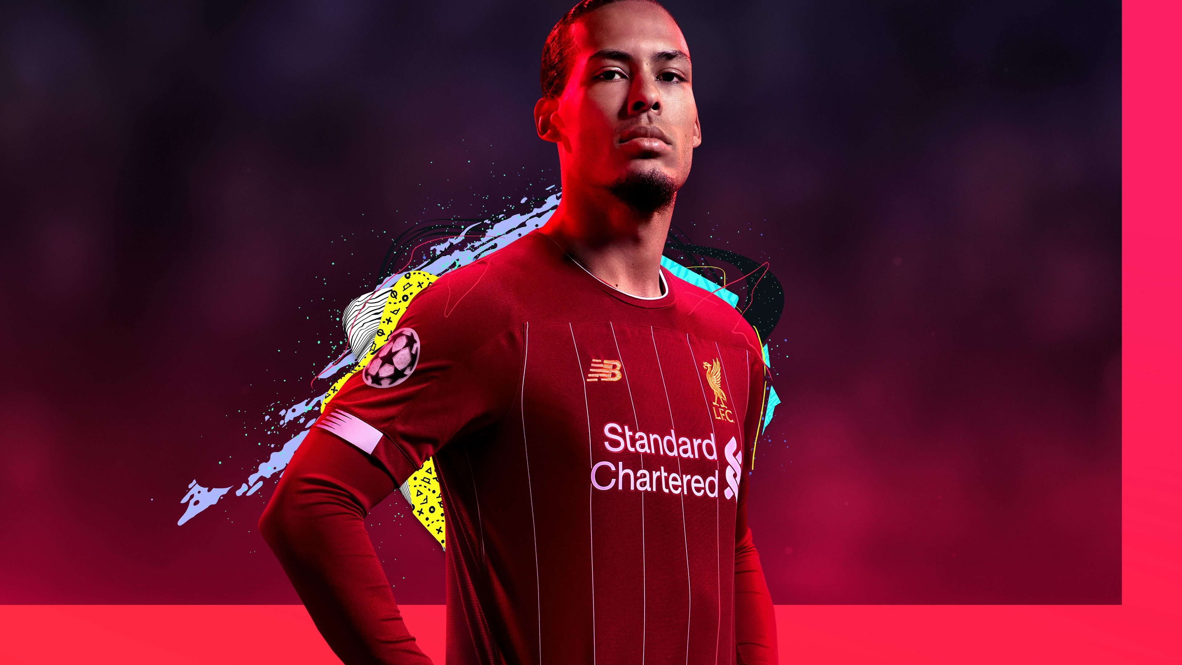 Virgil Van Dijk FIFA 20 Poster Wallpaper, HD Games 4K