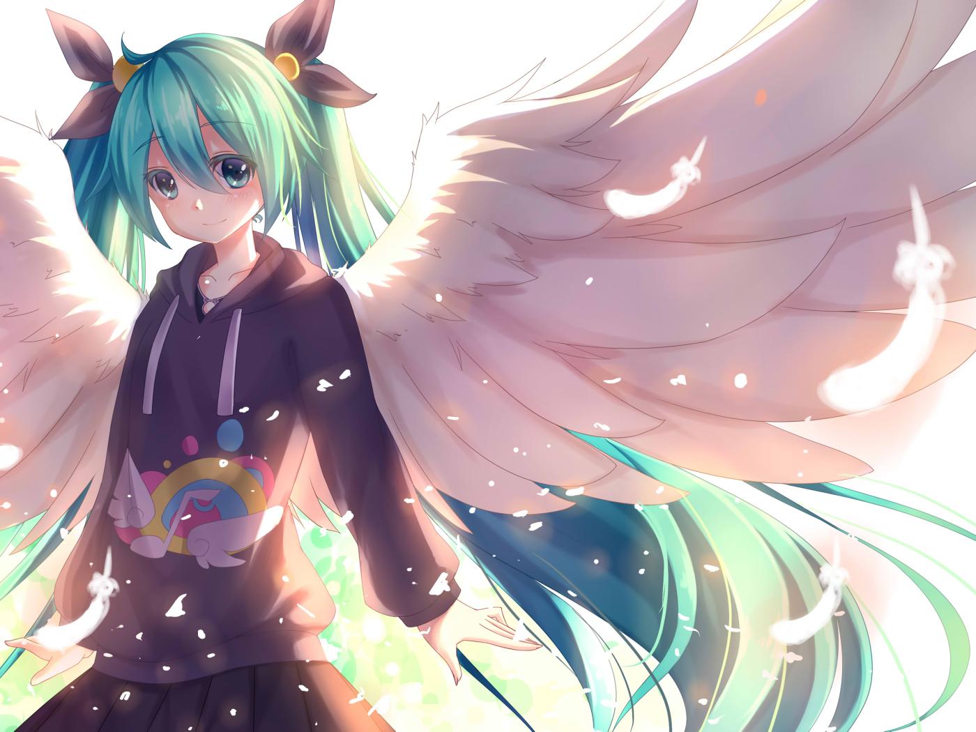 Download Vocaloid, Girl, Hatsune Miku 1400x1050 Resolution