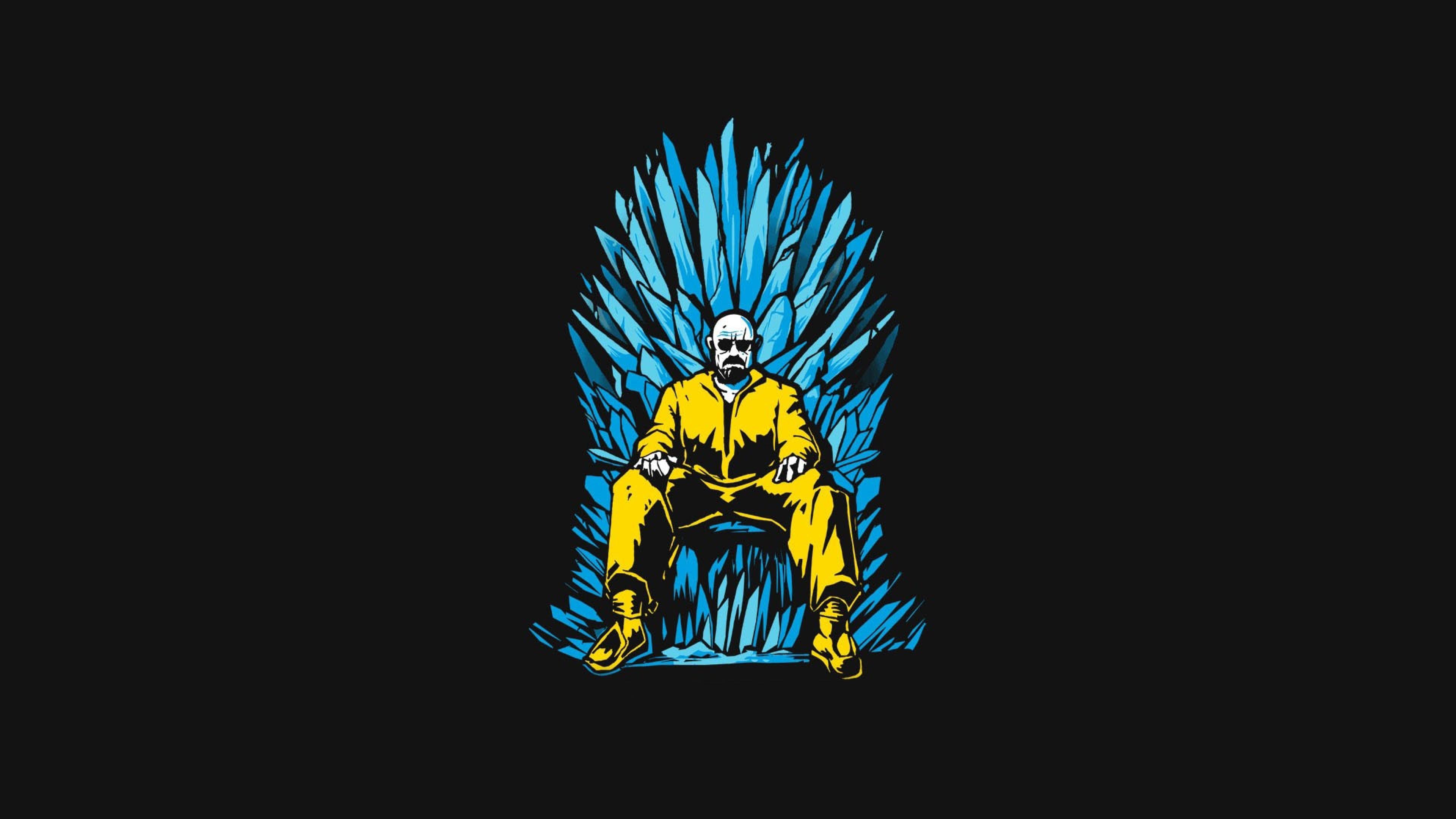 3840x2160 Walter White Game Of Thrones Minimalism 4k Wallpaper Hd