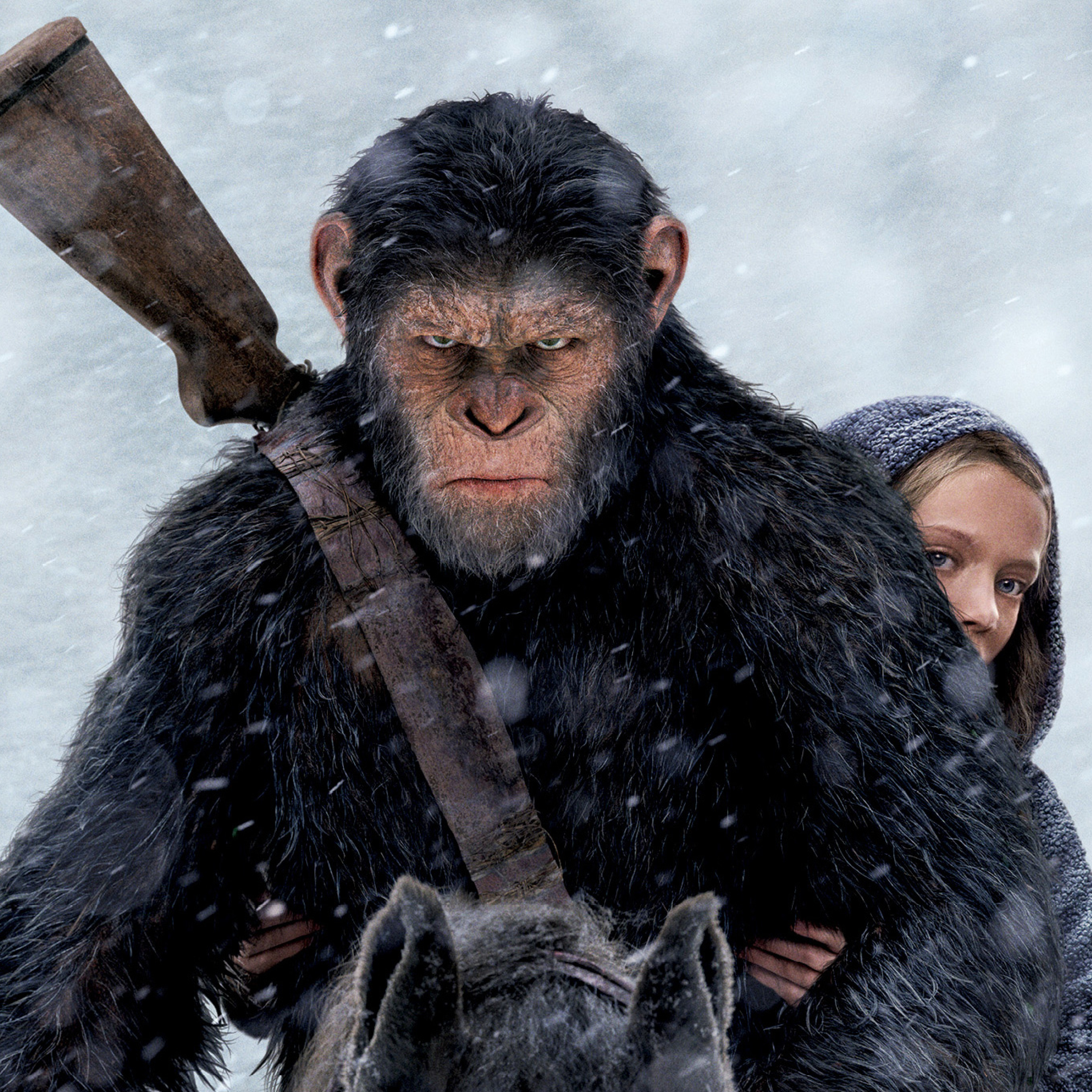 2932x2932 War For The Planet Of The Apes Movie Still Ipad Pro