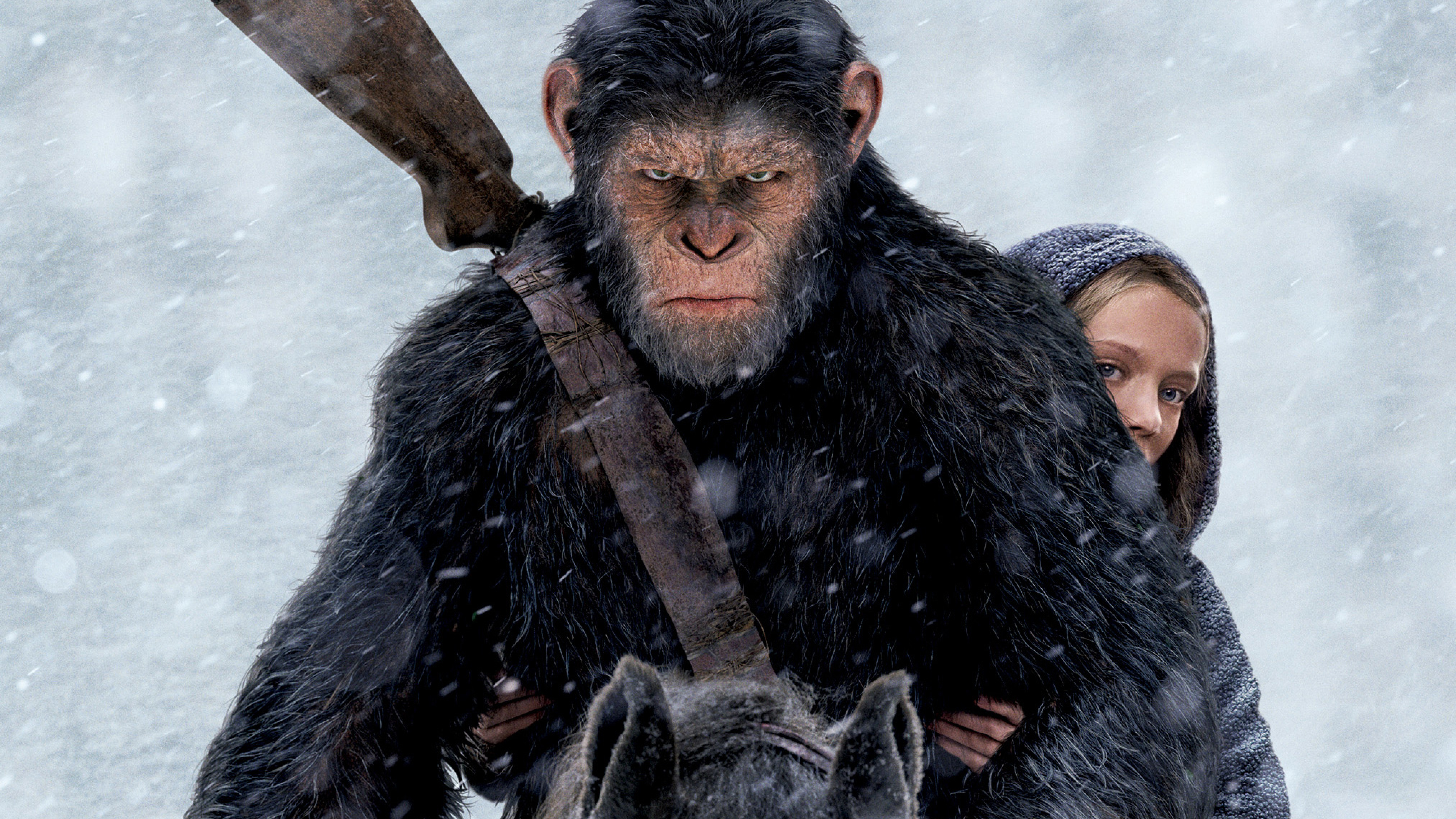 7680x4320 War For The Planet Of The Apes Movie Still 8k Wallpaper