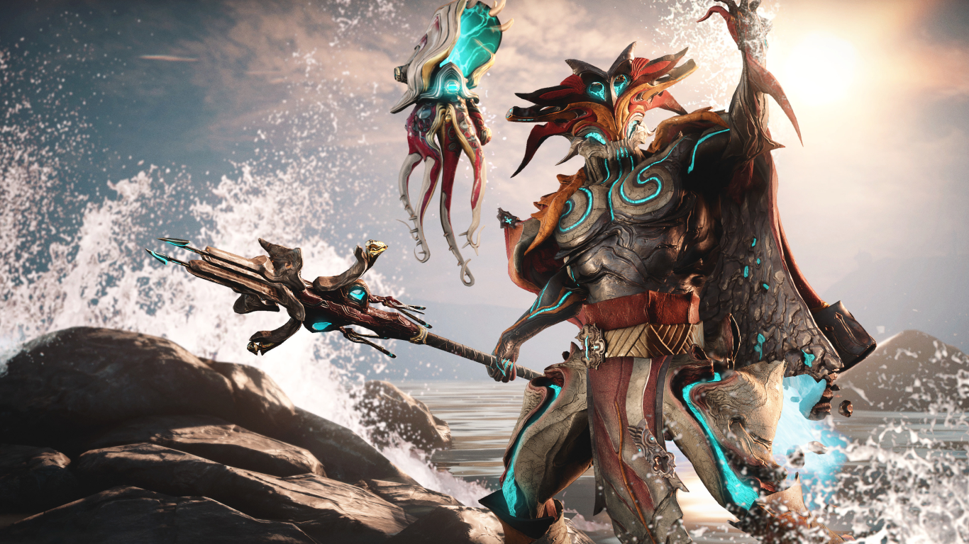 Warframe Official Poster Wallpaper in 1366x768 Resolution