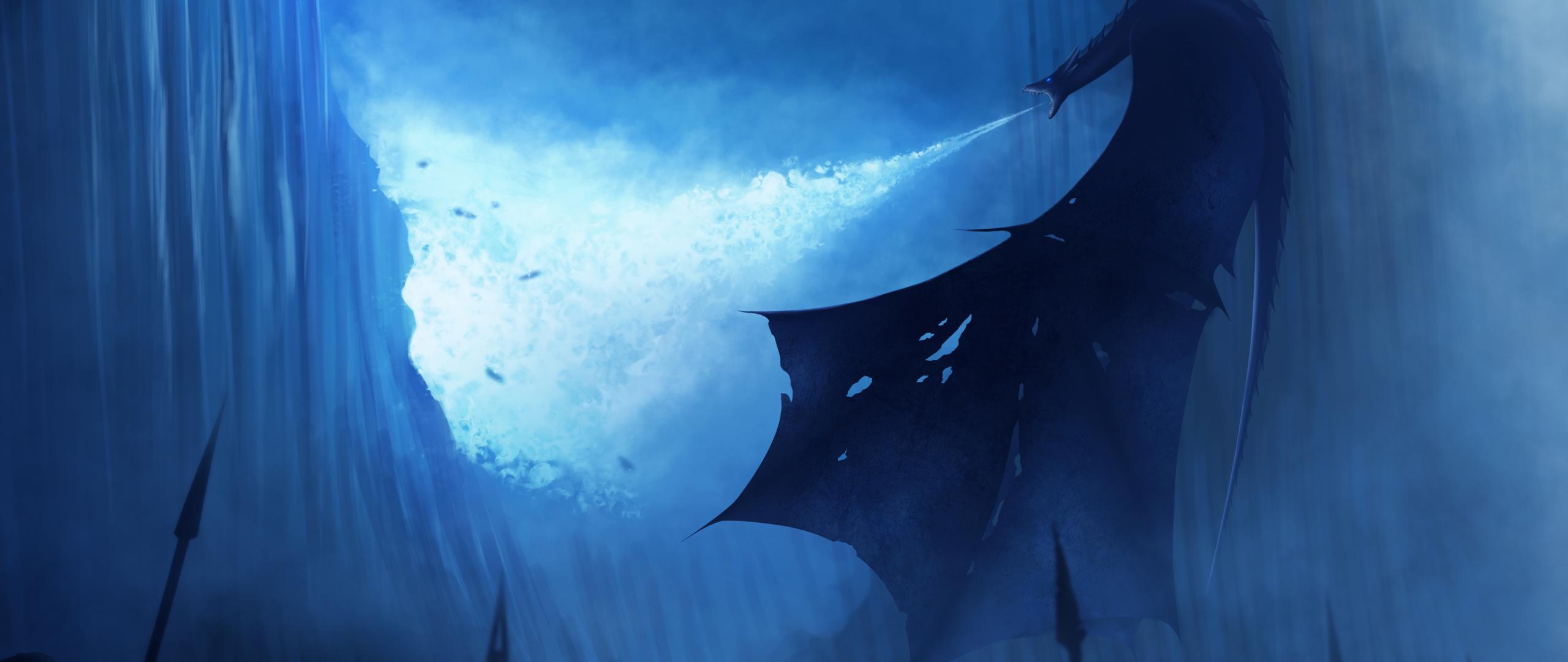 White Walker Ice Dragon Breaking The Wall Hd 4k Wallpaper