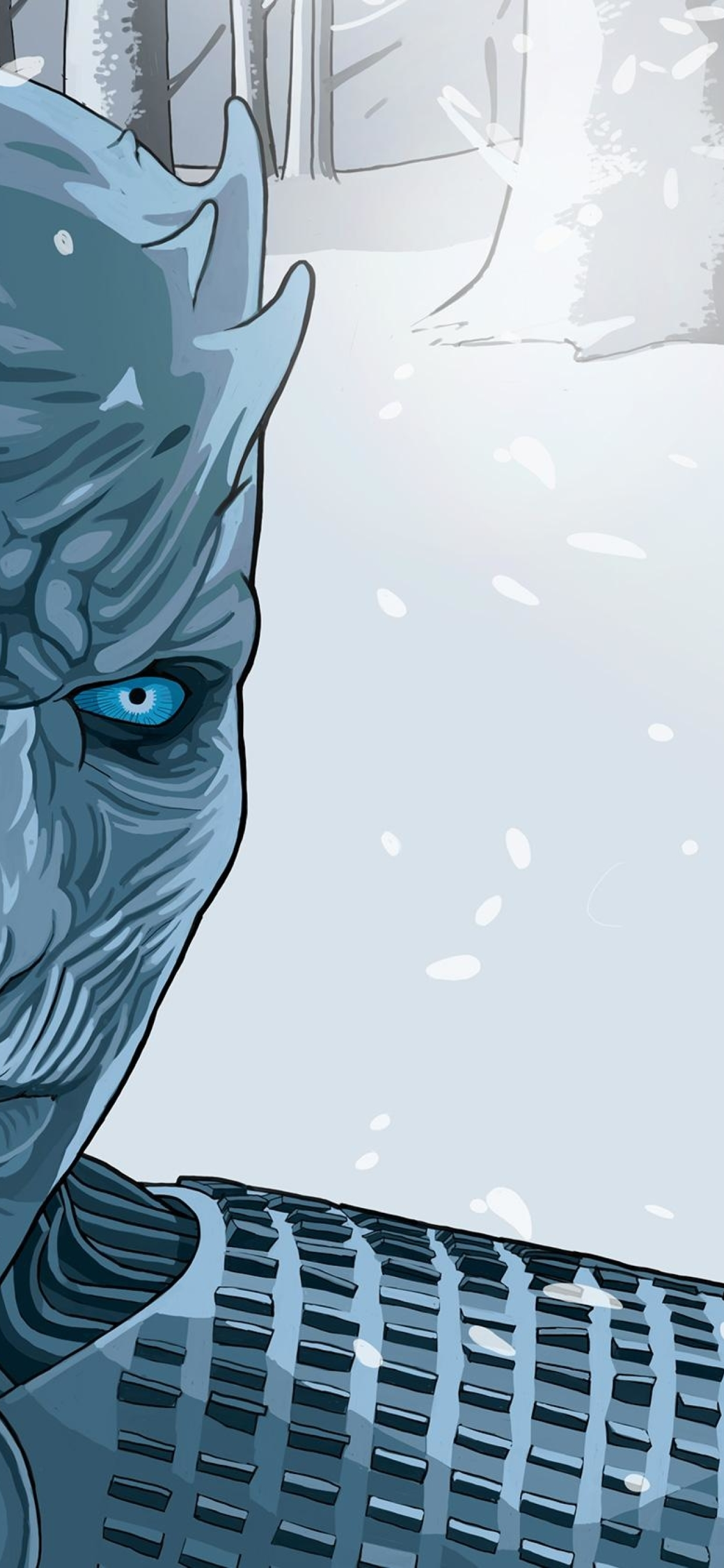 1242x2688 White Walker Illustration Iphone Xs Max Wallpaper