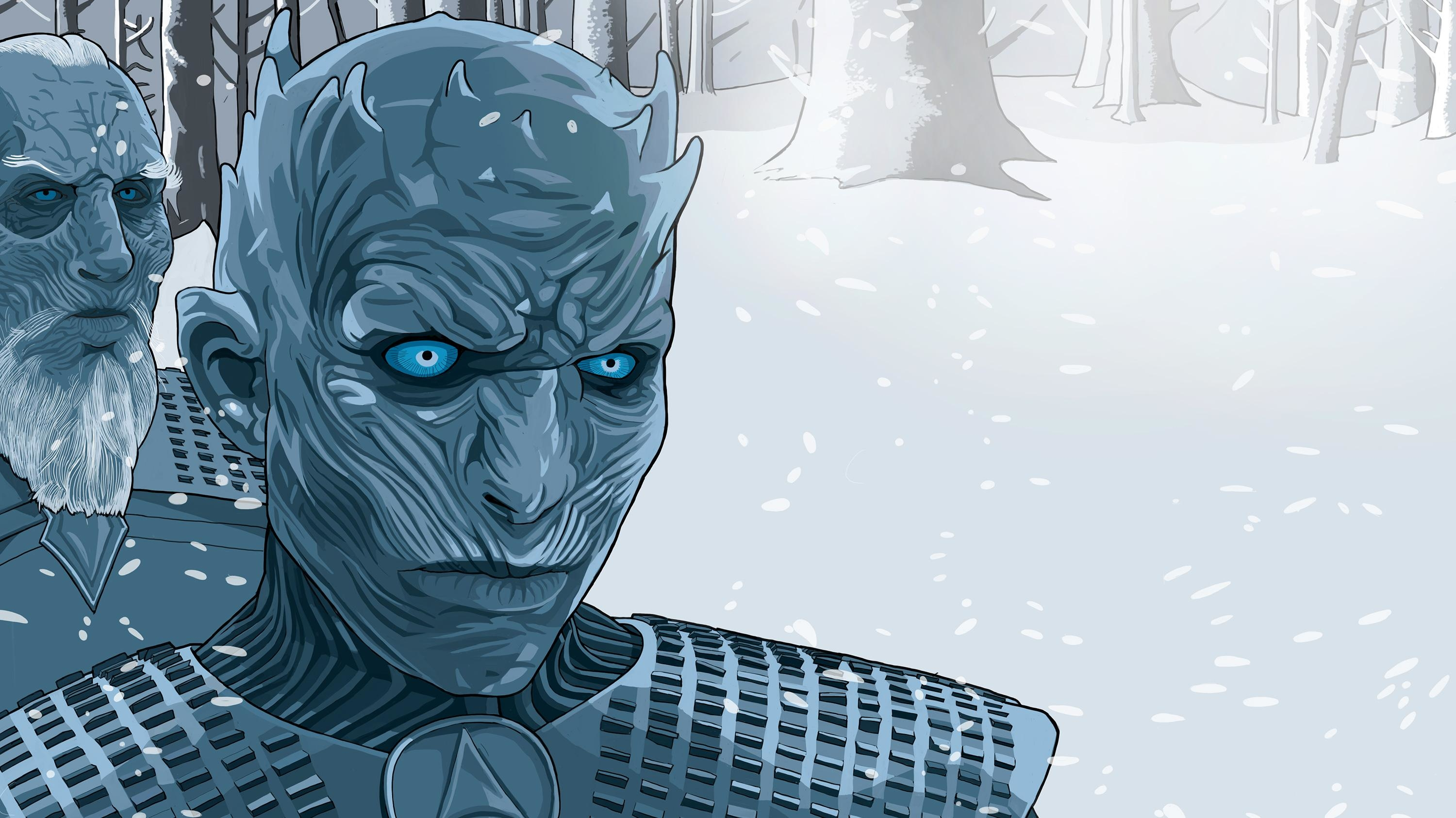 White Walker Illustration Wallpaper Hd Movies 4k Wallpapers