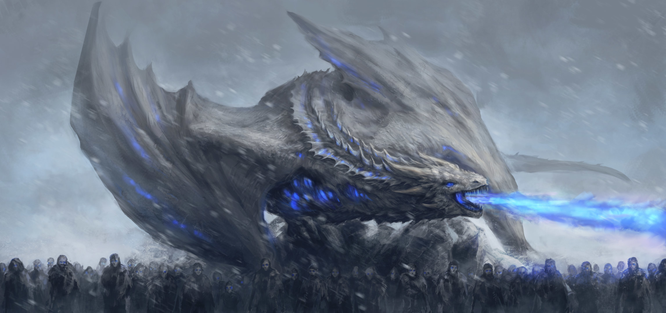 White Walkers Dragon Game Of Thrones Wallpaper Hd Movies 4k