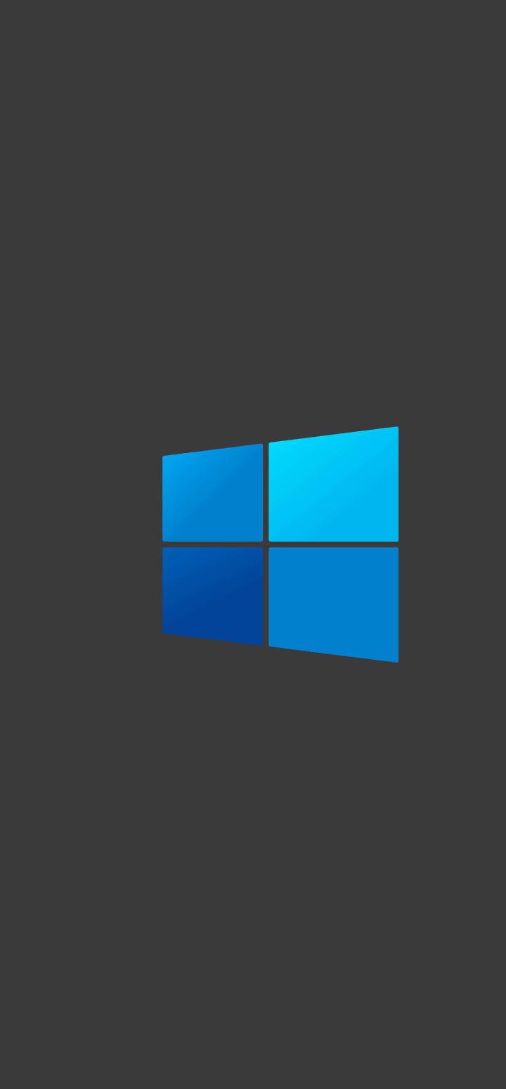 720x1548 Windows 10 Dark Logo Minimal 720x1548 Resolution ...