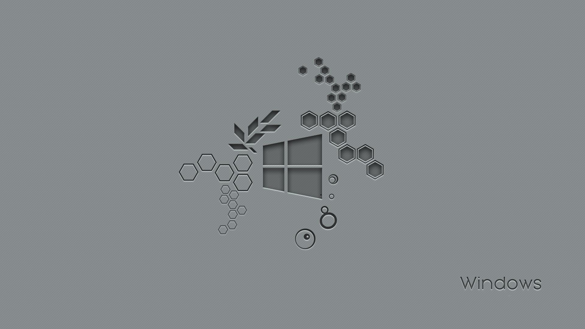 Download Windows 10 Hexagon 540x960 Resolution Full HD Wallpaper