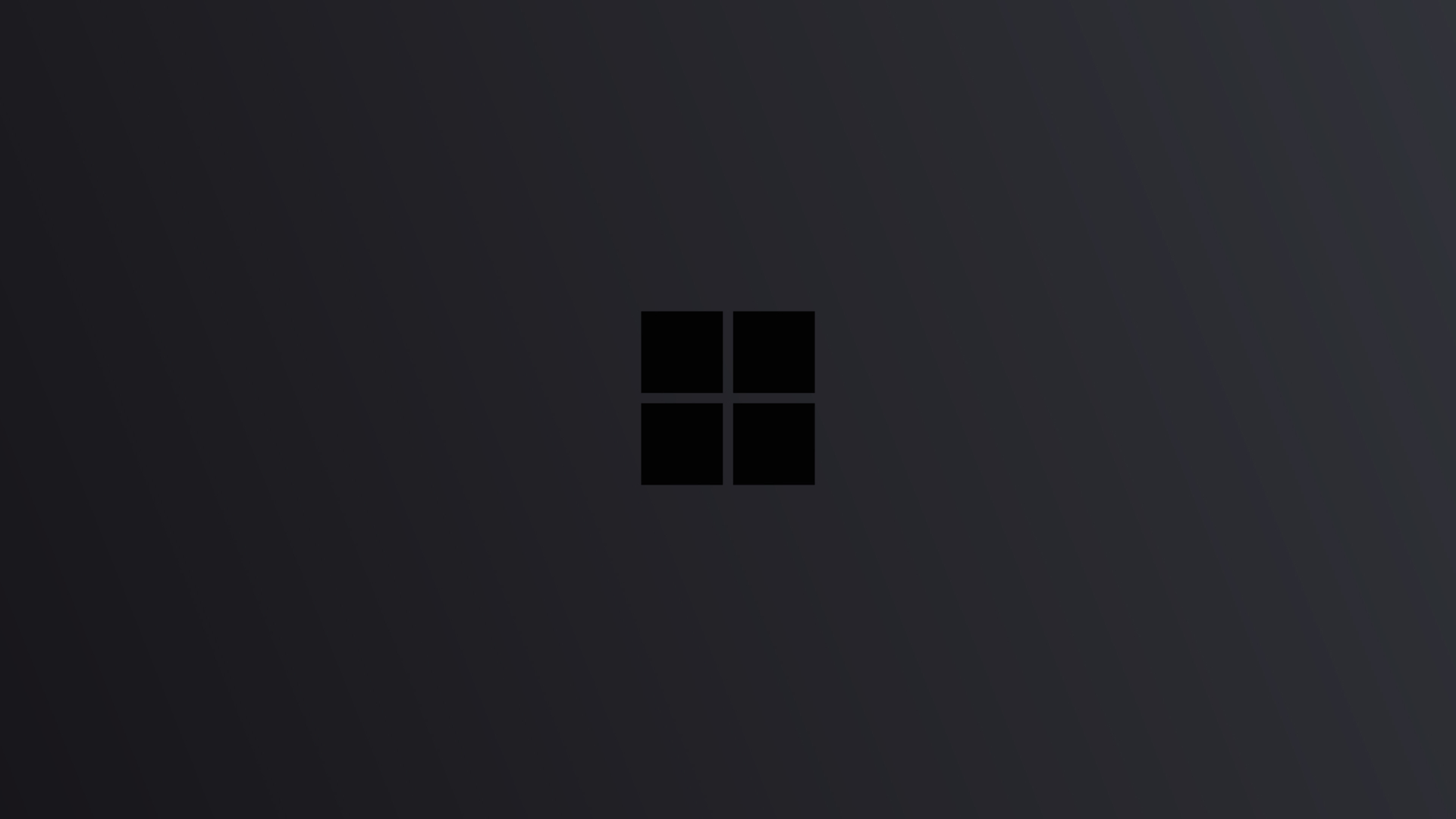 1920x1080 Windows 10 Logo Minimal Dark
