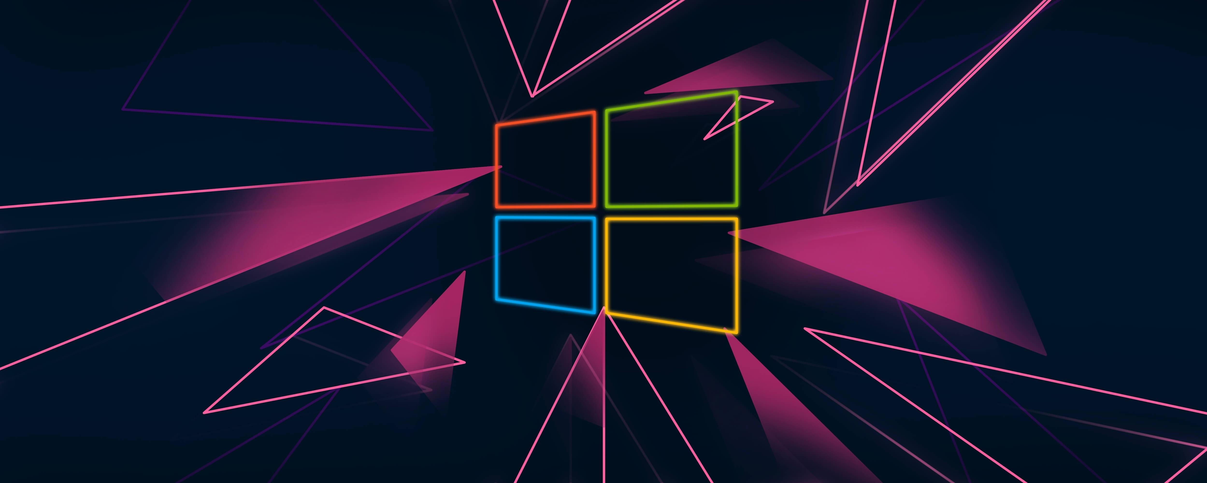 1024x768 Windows 10 Neon Logo 1024x768 Resolution ...