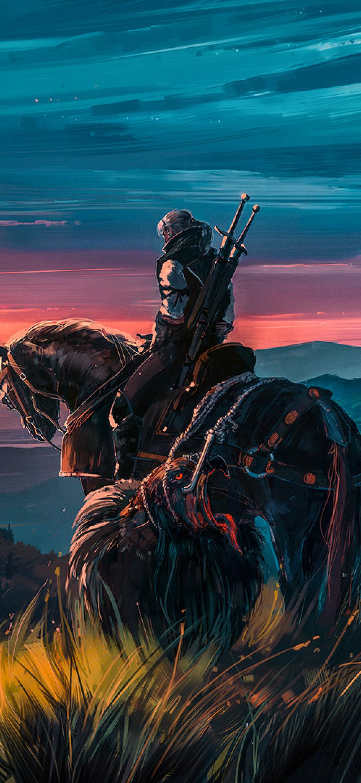 1080x2340 Witcher 3 Artstation Fan Art 1080x2340 ...