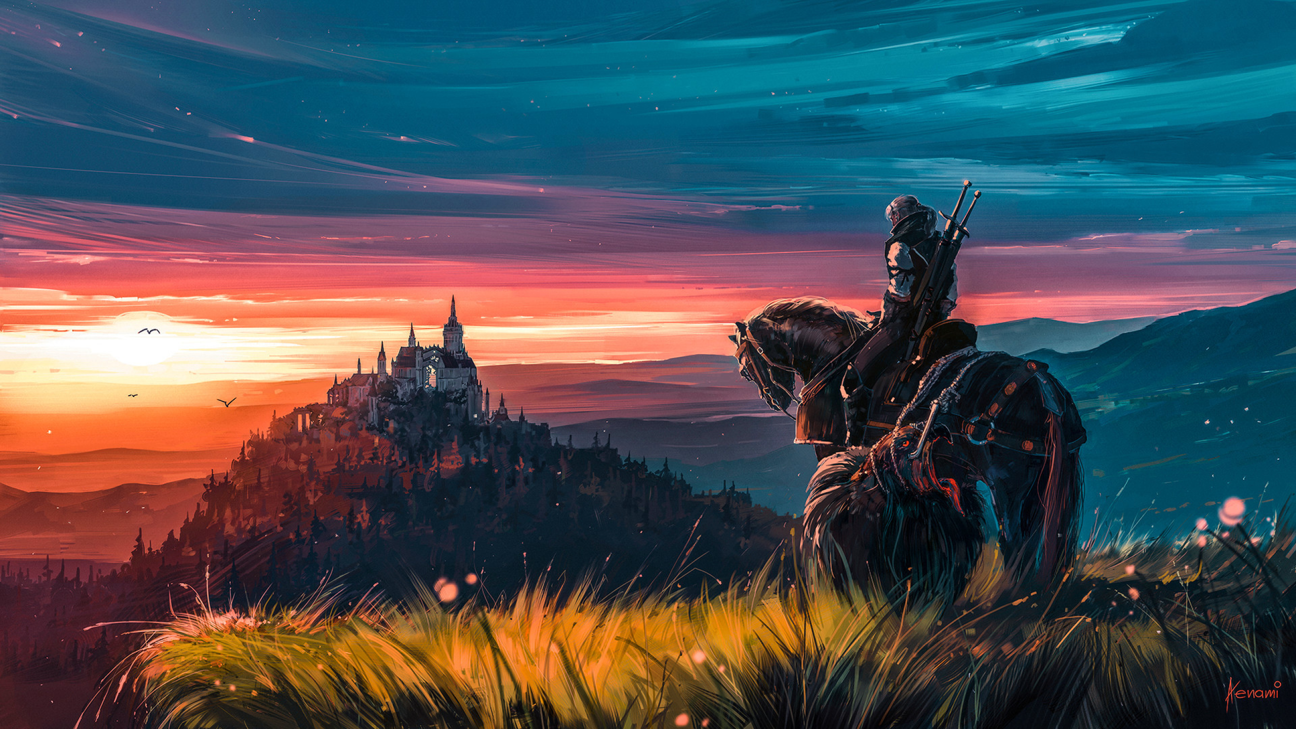 2560x1440 Witcher 3 Artstation Fan Art 1440p Resolution Wallpaper