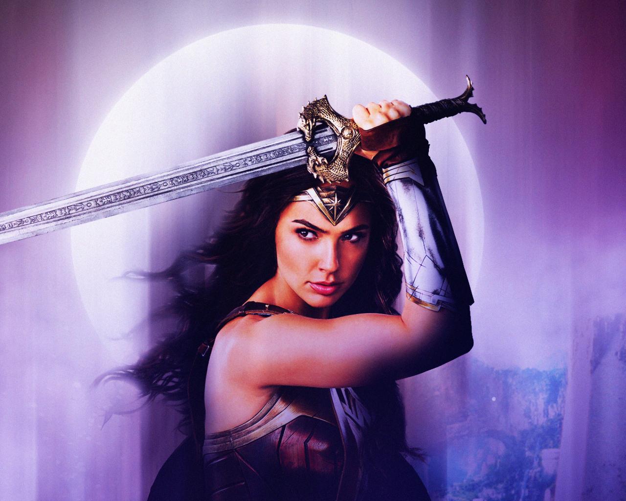 Wonder Woman Justice League Fan Art, HD 4K Wallpaper