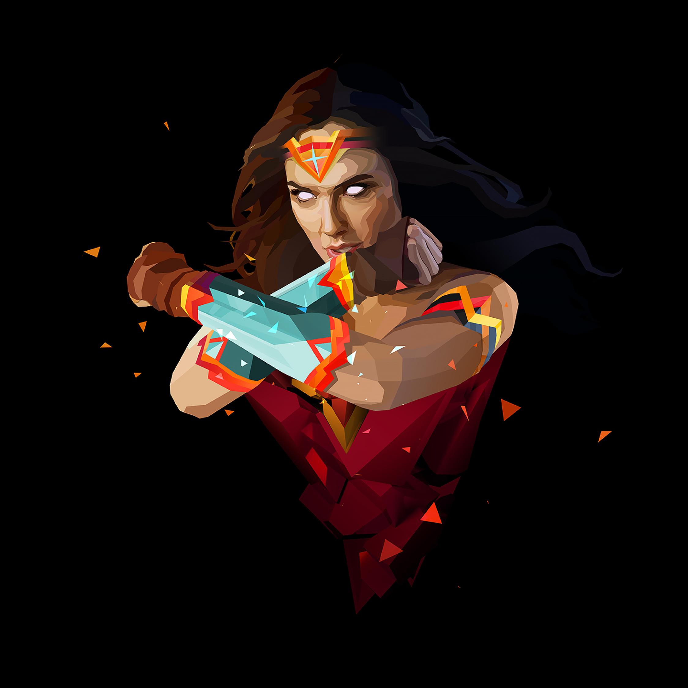 Wonder Woman Paint Art, Full HD 2K Wallpaper