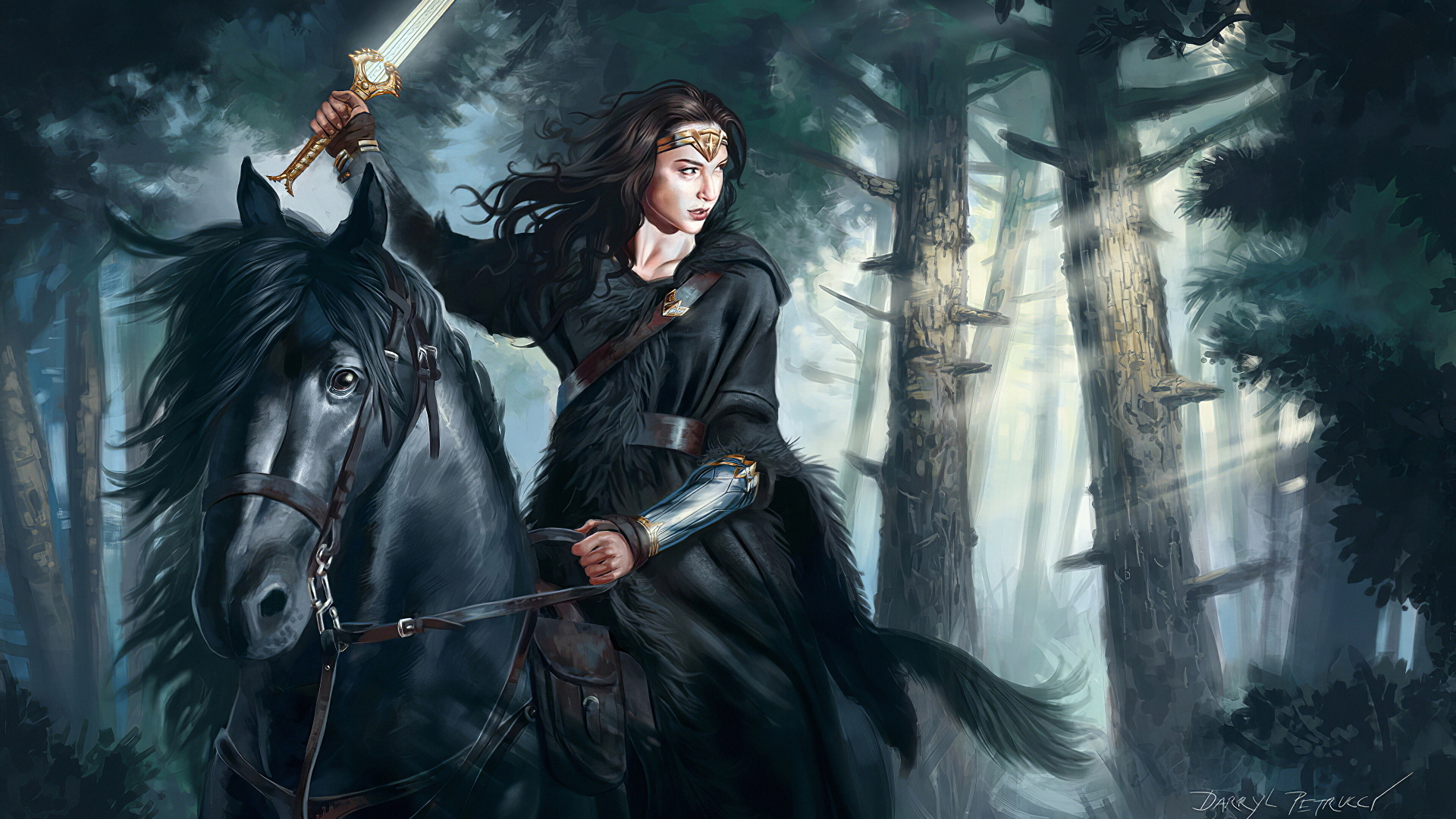 1920x1080 Wonder Woman Riding Horse 1080p Laptop Full Hd Wallpaper Hd Superheroes 4k Wallpapers Images Photos And Background