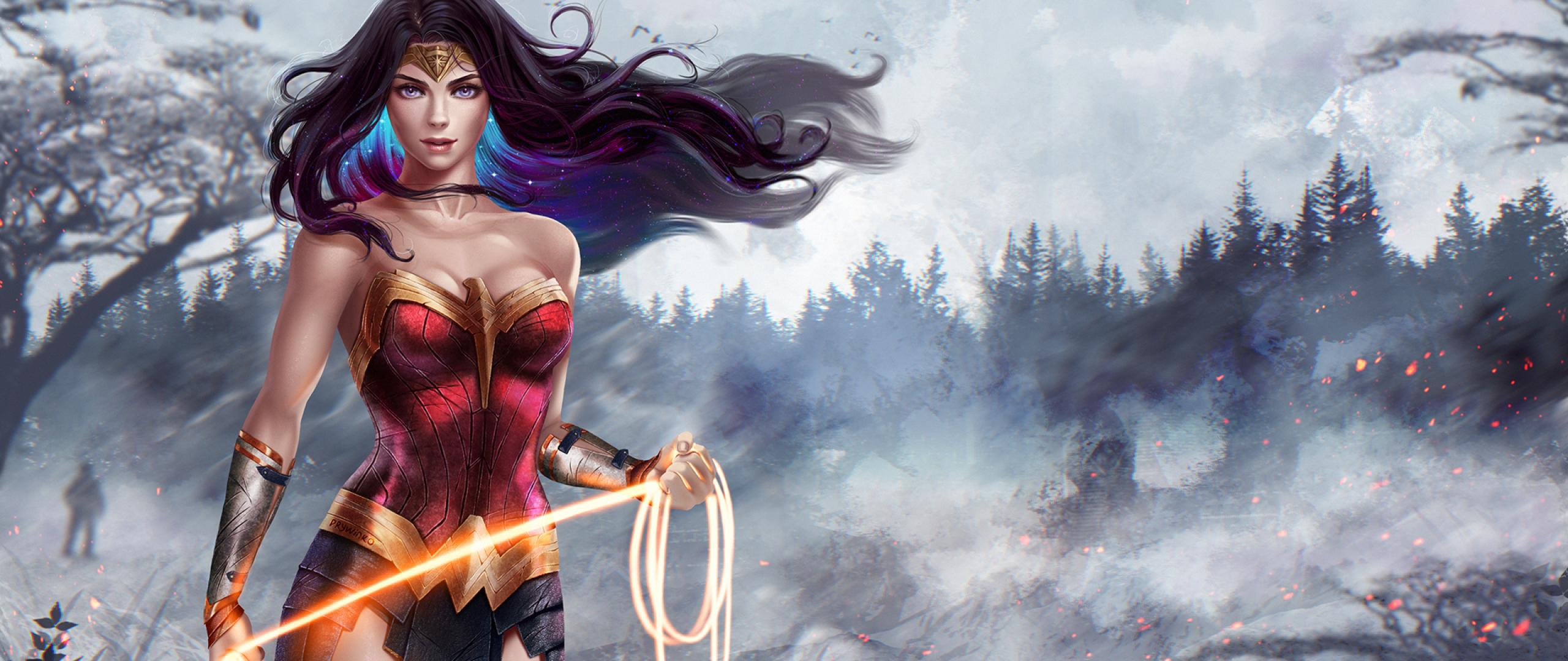 Wonder Woman Superhero Artwork, Full HD Wallpaper