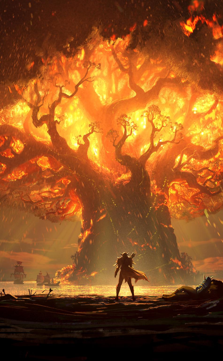World Of Warcraft Battle For Azeroth Artwork Hd 10k Wallpaper