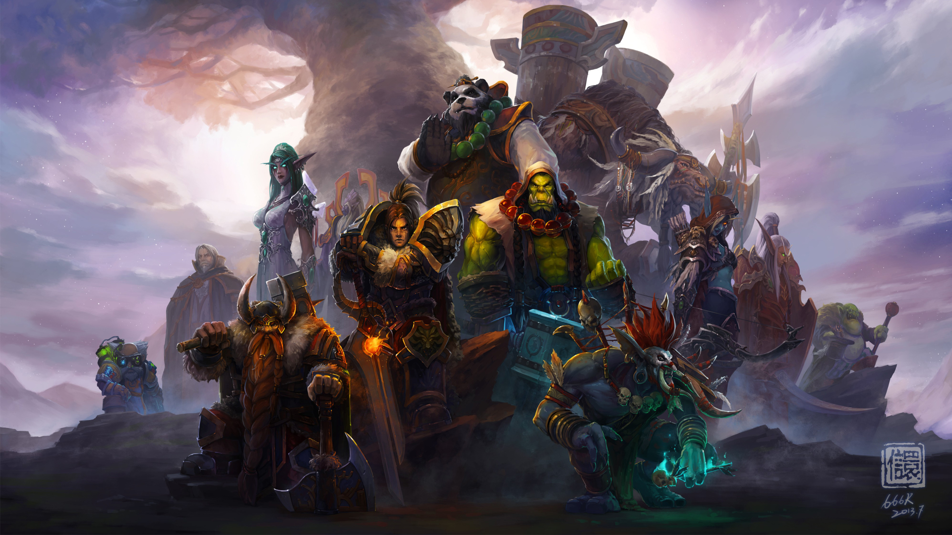 1920x1080 World of Warcraft Heroes 1080P Laptop Full HD ...