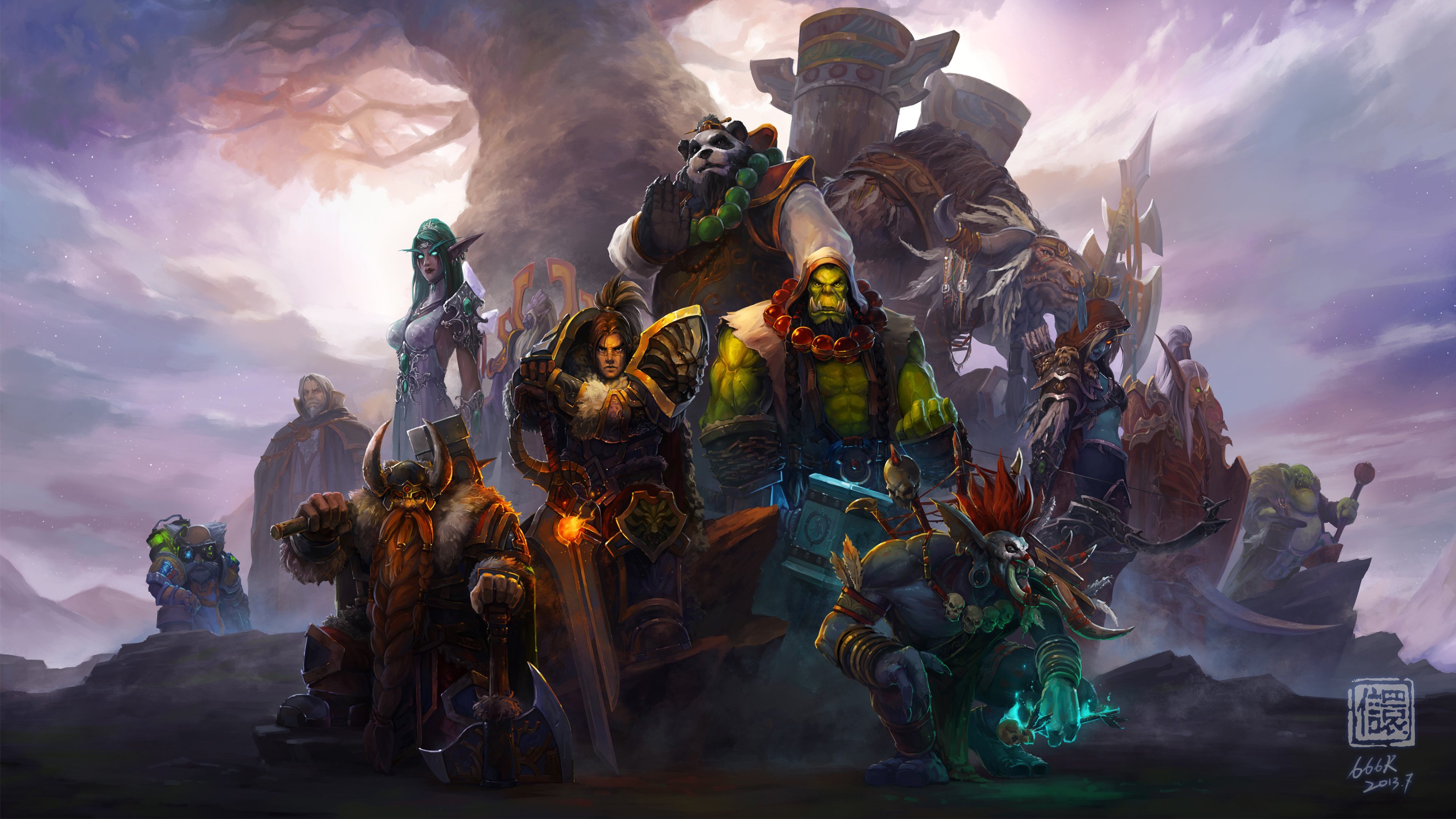 ultra hd world of warcraft wallpaper hd