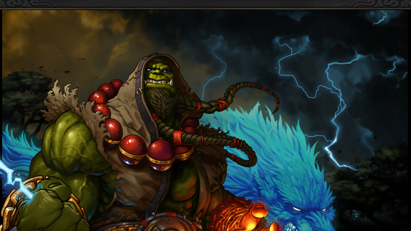 1366x768 World Of Warcraft Shaman Thrall 1366x768 Resolution