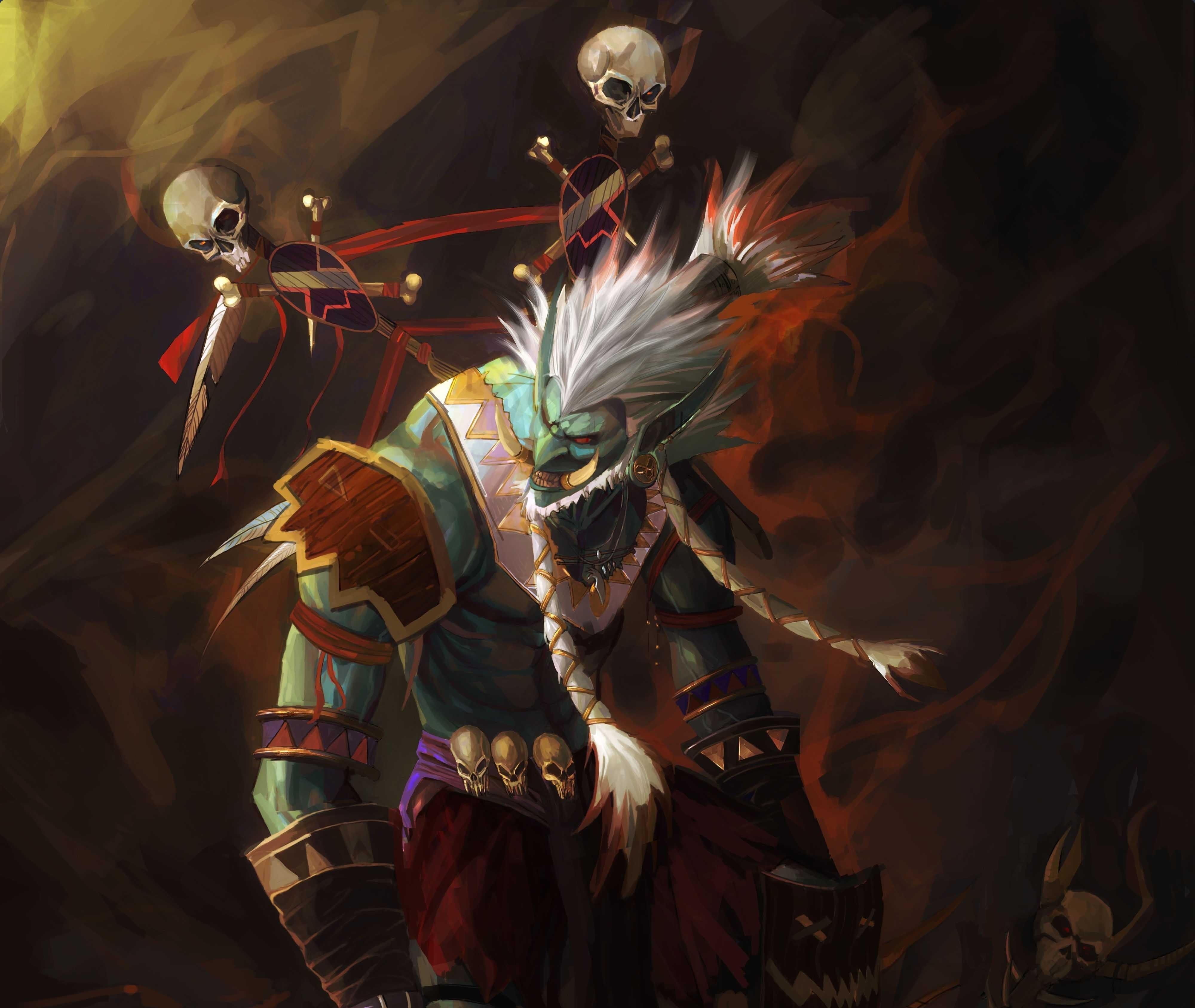 World Of Warcraft, Troll, Shaman, HD 4K Wallpaper