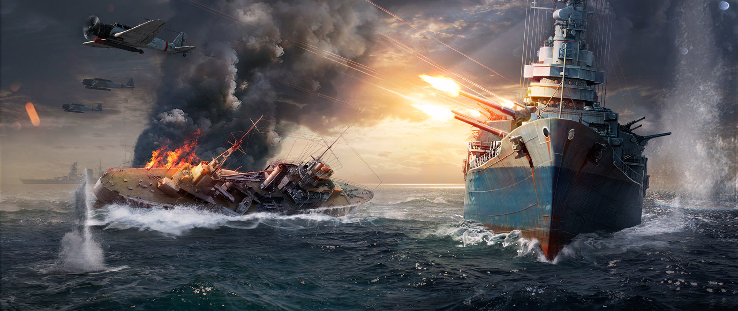 2560x1080 World Of Warships Sinking Ship 2560x1080 Resolution Wallpaper Hd Games 4k Wallpapers Images Photos And Background