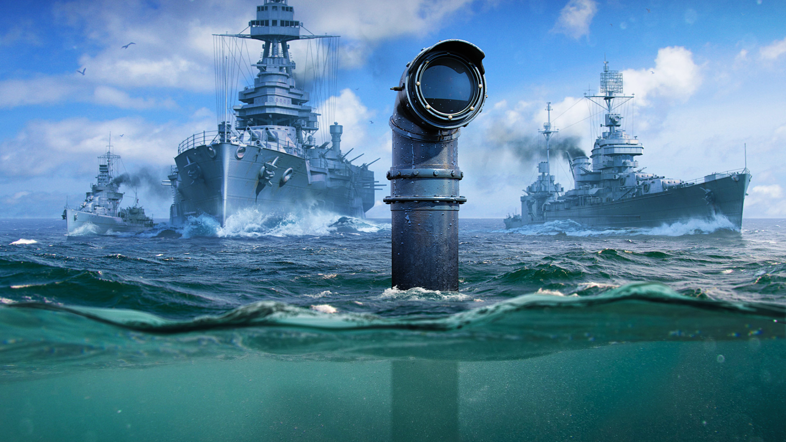2560x1440 World Of Warships Submarine 1440p Resolution Wallpaper
