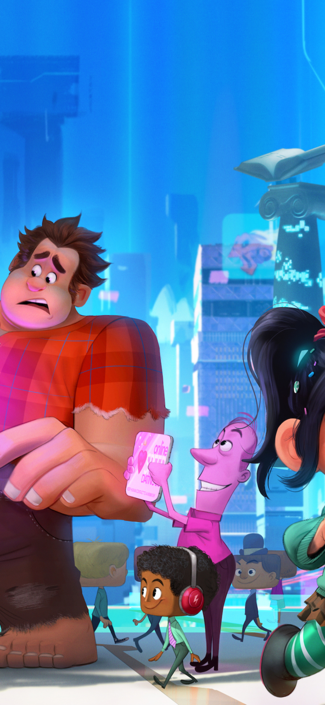 1125x2436 Wreck It Ralph 2 Iphone Xs Iphone 10 Iphone X Wallpaper