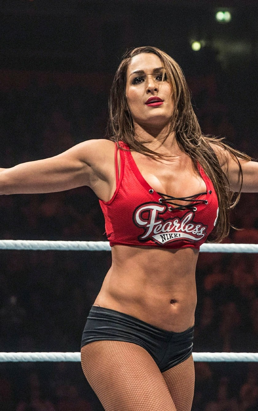 Wwe Nikki Bella In Wrestling Ring Pose  Full Hd 2k Wallpaper