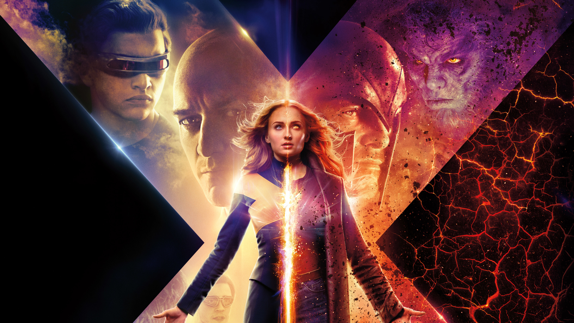 1920x1080 X-Men Dark Phoenix 2019 Movie New Poster 1080P Laptop Full