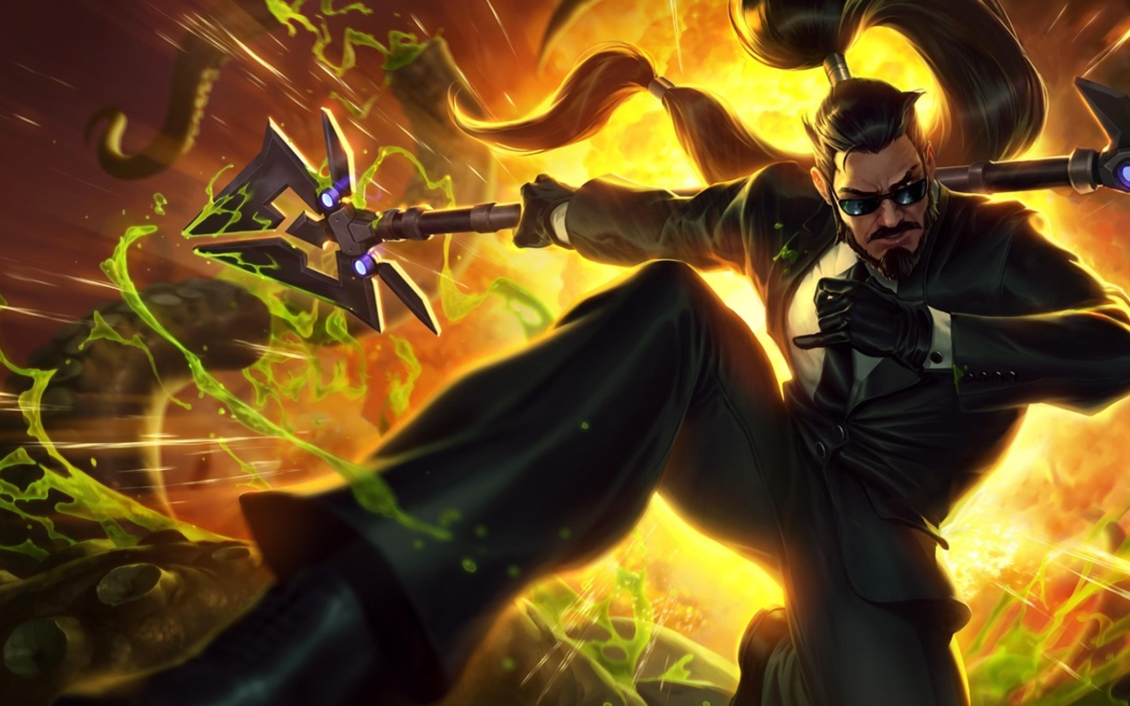 Xin Zhao Secret Agent League Of Legends, HD Wallpaper