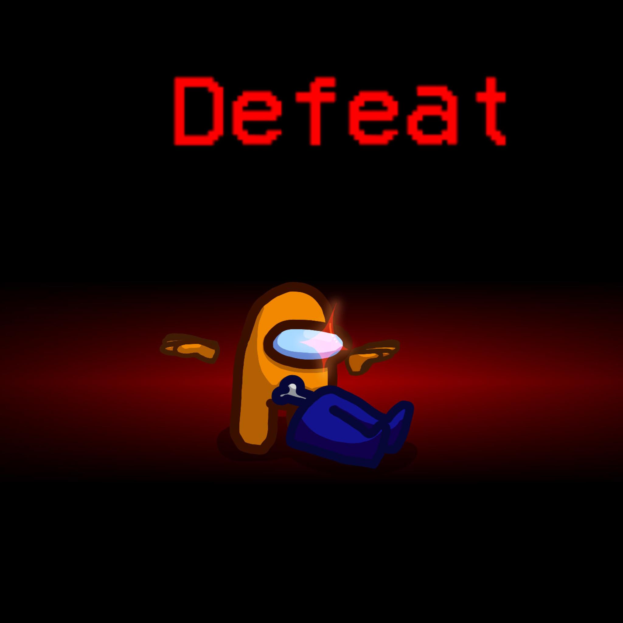 2048x2048 Yellow Defeat Crewmate Among Us Ipad Air ...