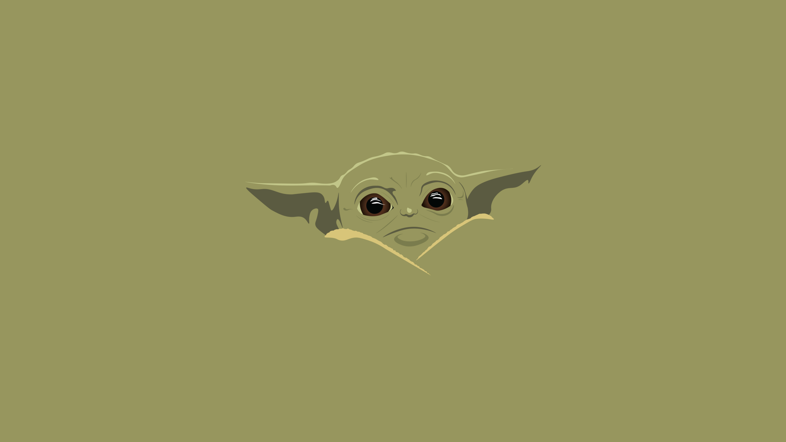 2560x1440 Yoda Baby Minimal Art 1440P Resolution Wallpaper ...