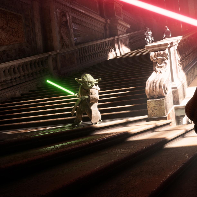 Yoda Vs Darth Vader Star Wars Battlefront 2, Full HD Wallpaper