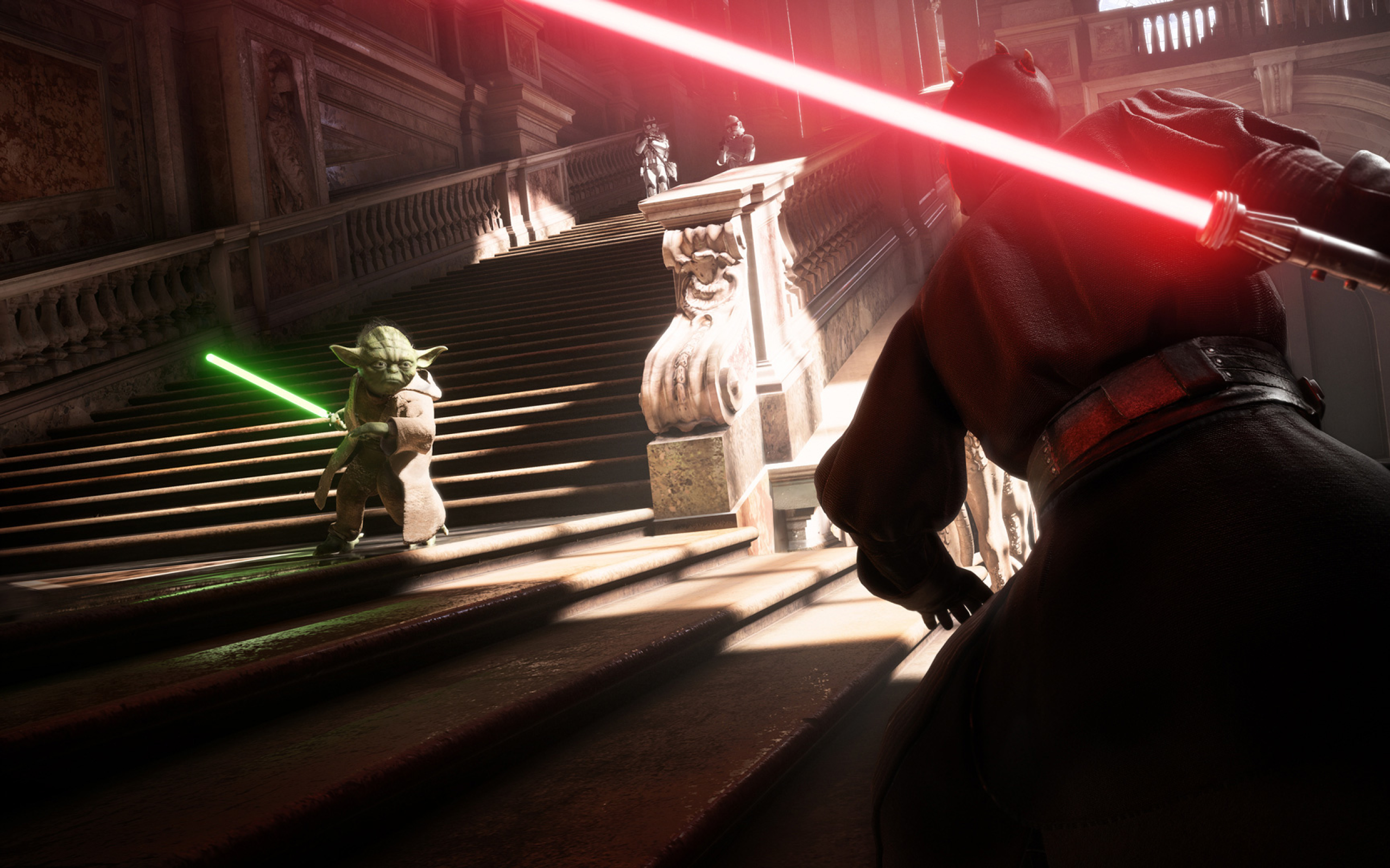 2560x1600 Yoda Vs Darth Vader Star Wars Battlefront 2 2560x1600 Resolution Wallpaper Hd Games 4k Wallpapers Images Photos And Background