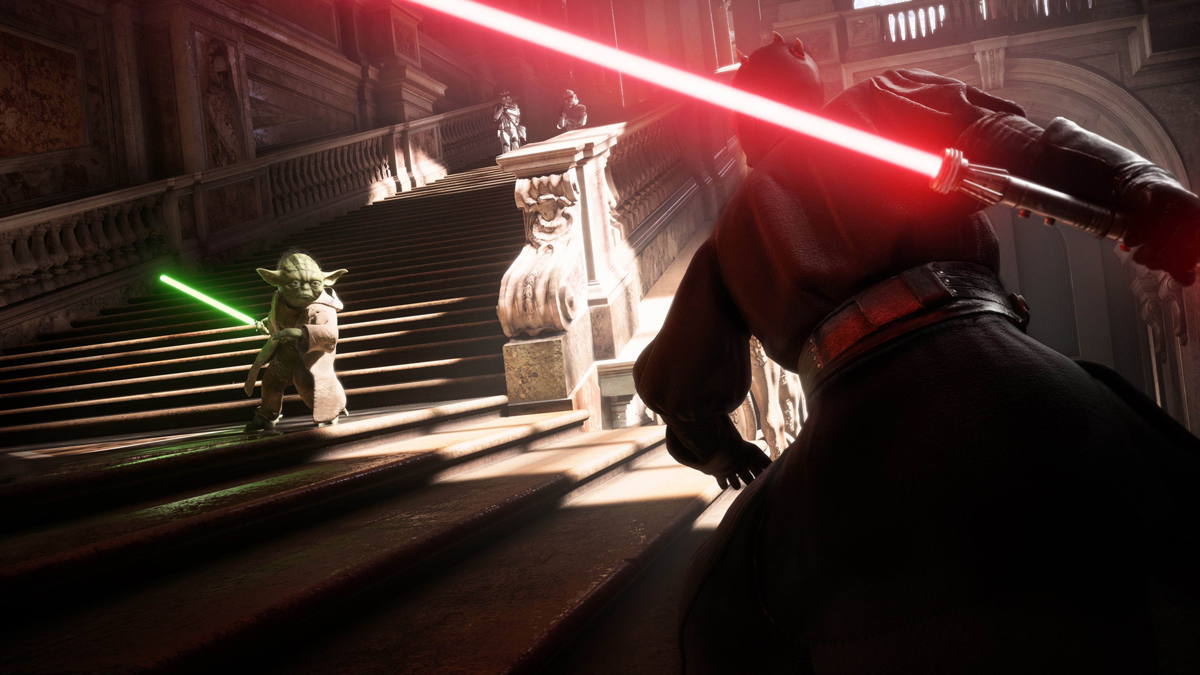 3840x2160 Yoda Vs Darth Vader Star Wars Battlefront 2 4k