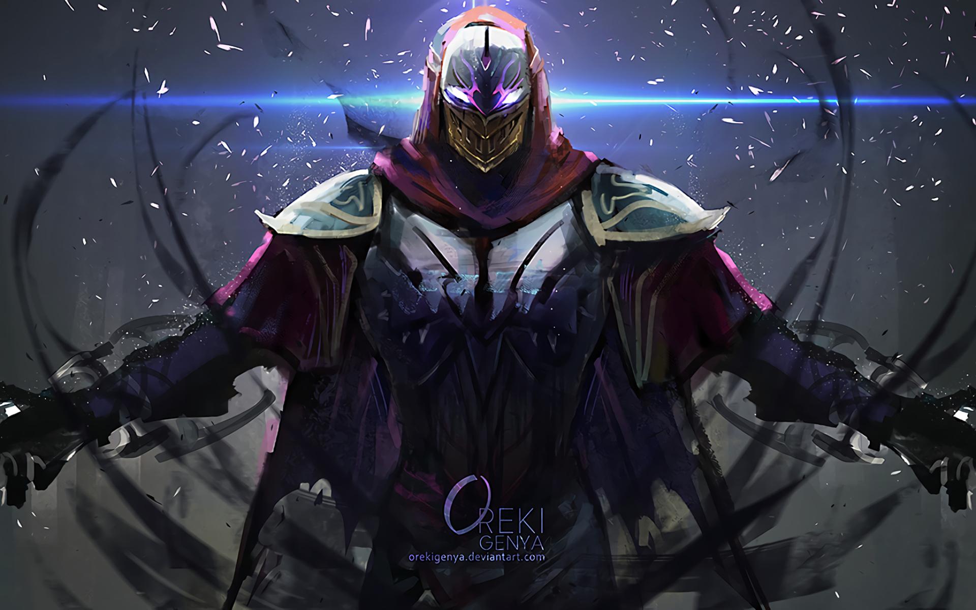 Zed League Of Legends Art Full Hd Wallpaper
