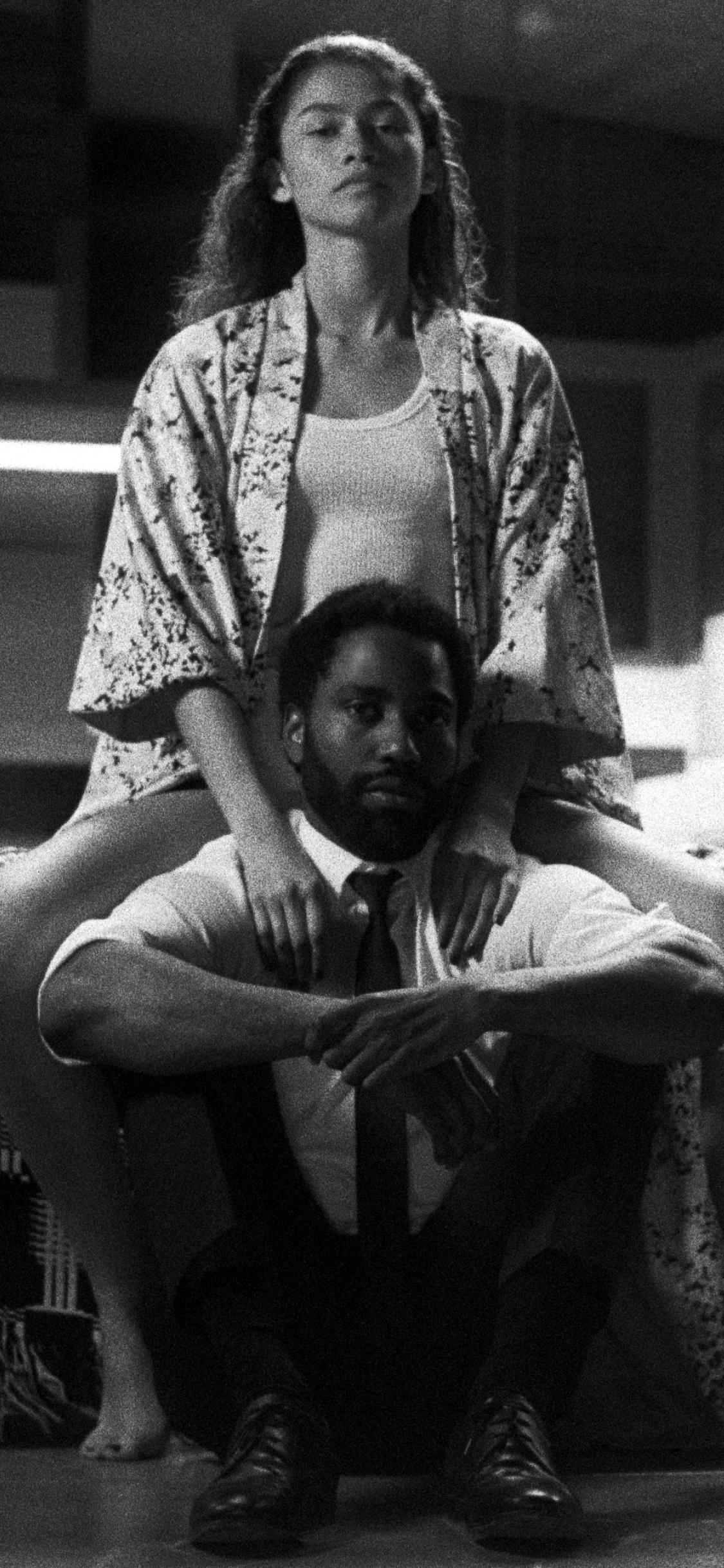 Zendaya & John Washington from Malcolm & Marie Wallpaper in 1125x2436 Resolution