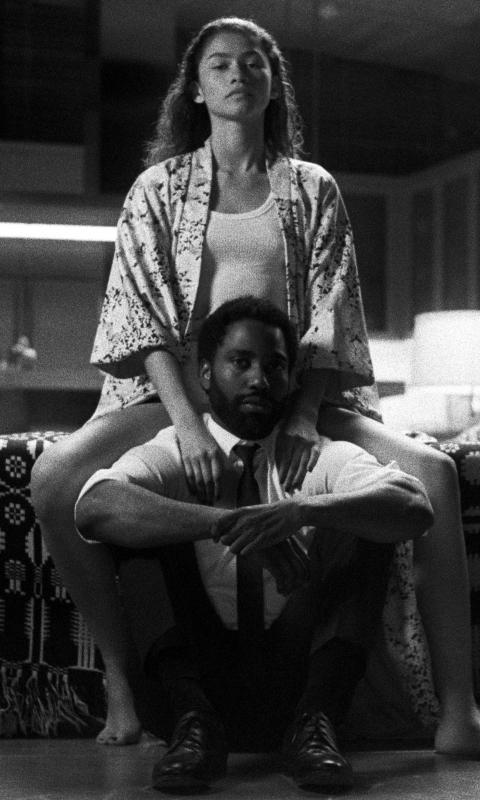 Zendaya & John Washington from Malcolm & Marie Wallpaper in 480x800 Resolution