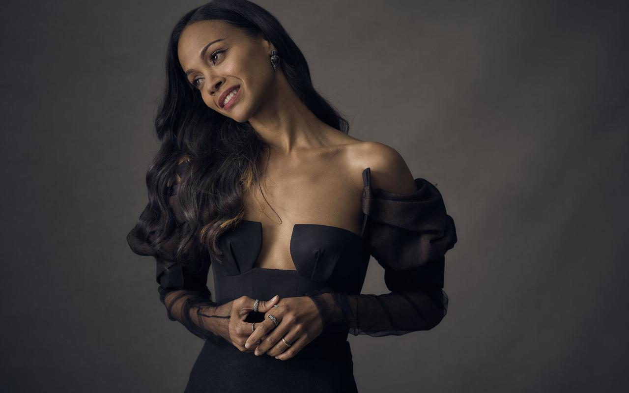 Zoe Saldana 2018 Full Hd 2k Wallpaper
