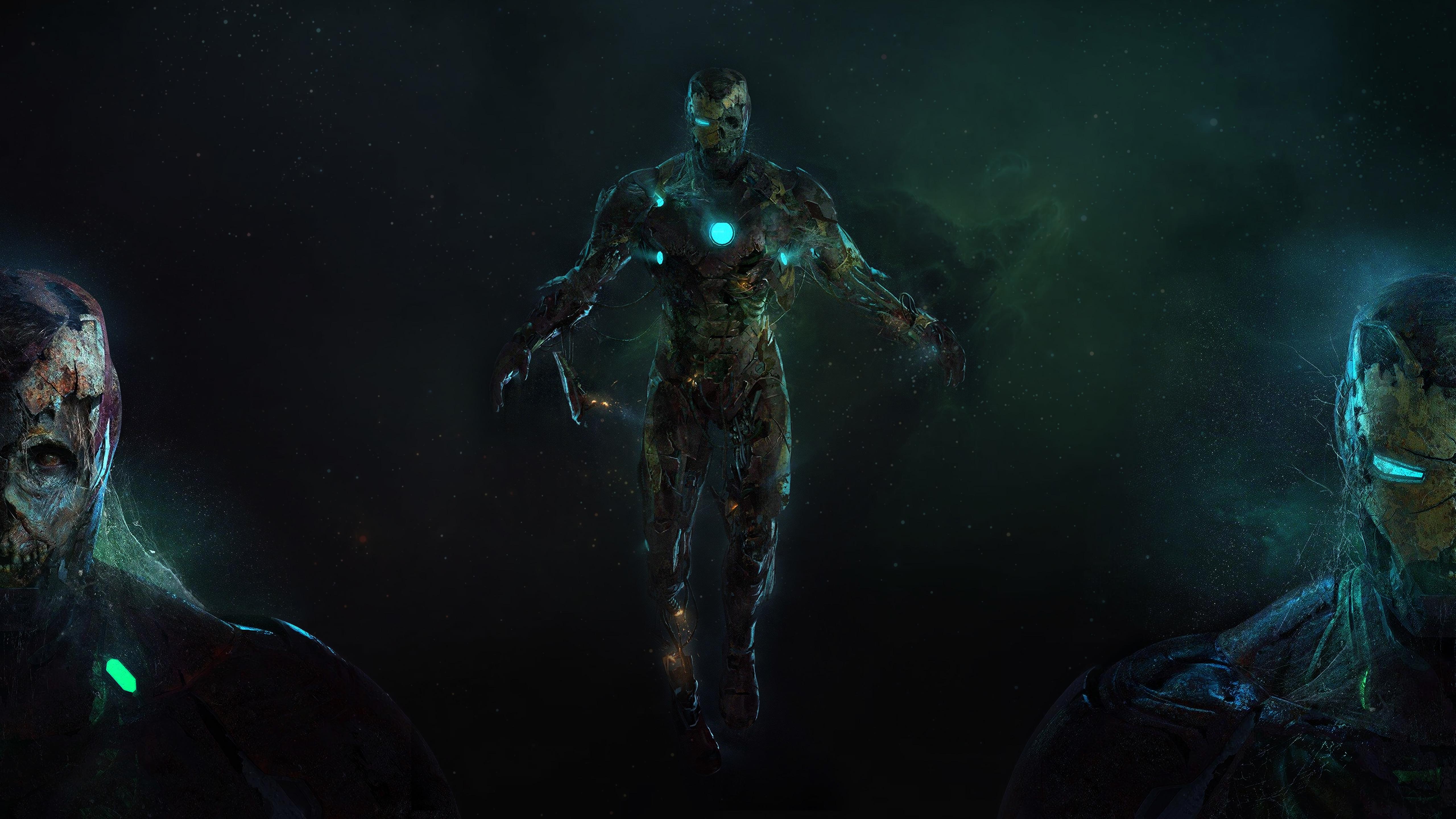 zombie iron man in spider