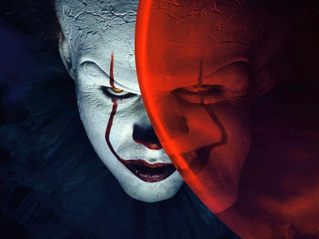 Wallpaper It Clown Bill Skarsgard Horror 2017 Hd: Bill Skarsgård From IT As Pennywise Clown Wallpaper, HD
