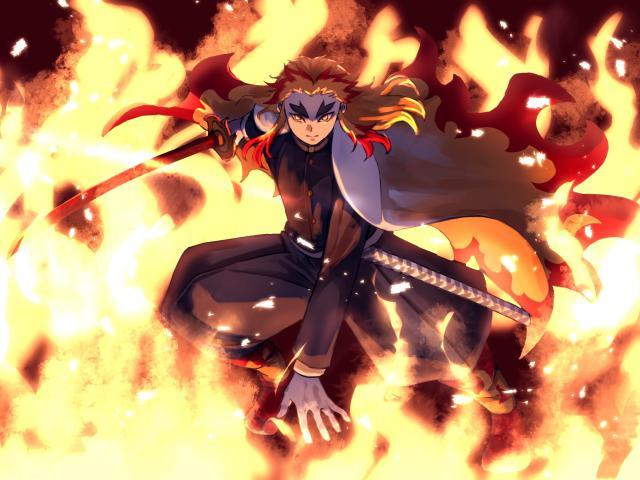 Kyojuro Rengoku From Demon Slayer Wallpaper Hd Anime 4k