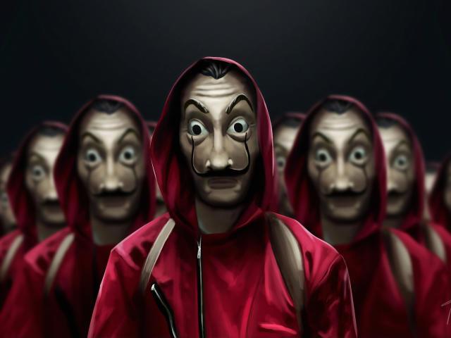 Money Heist Wallpaper Mask