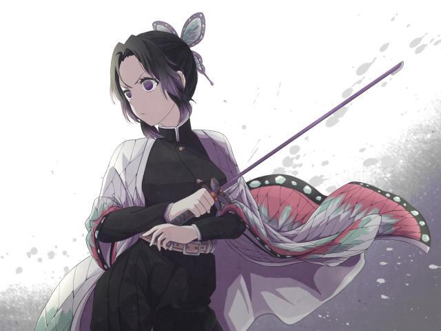 Shinobu Kochou Demon Slayer Wallpaper, HD Anime 4K ...