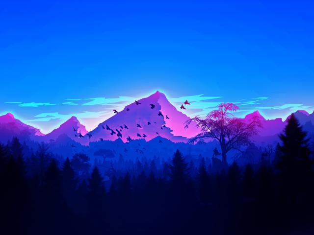 Vaporwave Minimalism Forest Wallpaper, HD Artist 4K ...